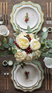 Hottest Christmas Table Decorating Ideas For You 15