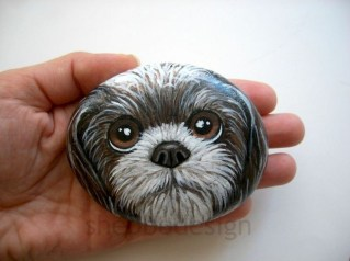 Magnificient Diy Painted Rocks Ideas With Animals Dogs For Summer 31