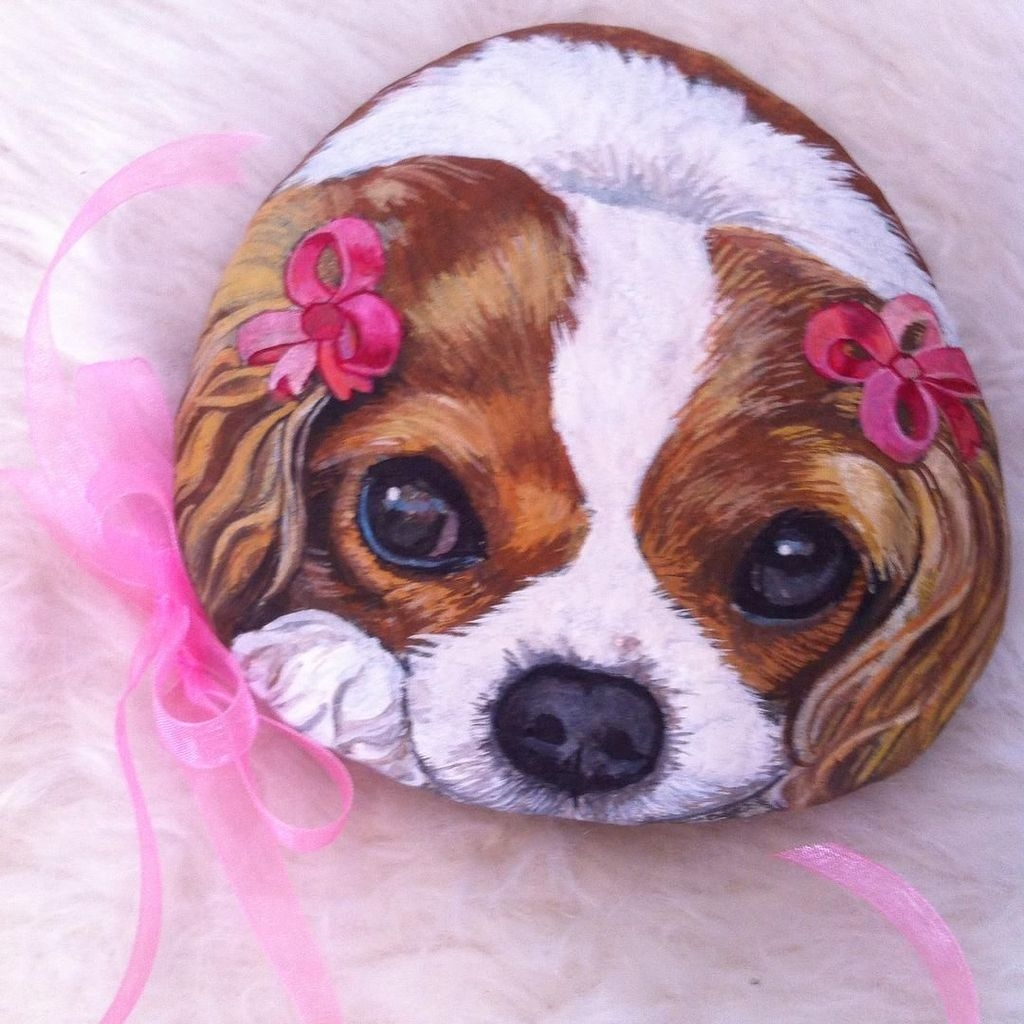 Magnificient Diy Painted Rocks Ideas With Animals Dogs For Summer 43