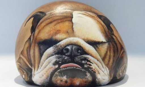 Magnificient Diy Painted Rocks Ideas With Animals Dogs For Summer 45