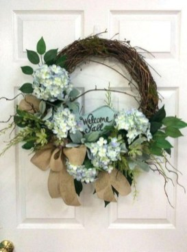 Pretty Summer Wreath Decor Ideas For Front Door 06