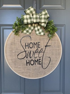 Pretty Summer Wreath Decor Ideas For Front Door 18