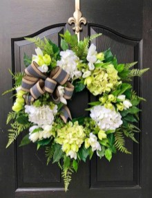 Pretty Summer Wreath Decor Ideas For Front Door 22