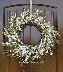 Pretty Summer Wreath Decor Ideas For Front Door 32