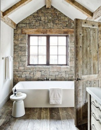 Rustic Bathroom Design Ideas With Wood For Home 13