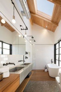 Rustic Bathroom Design Ideas With Wood For Home 37