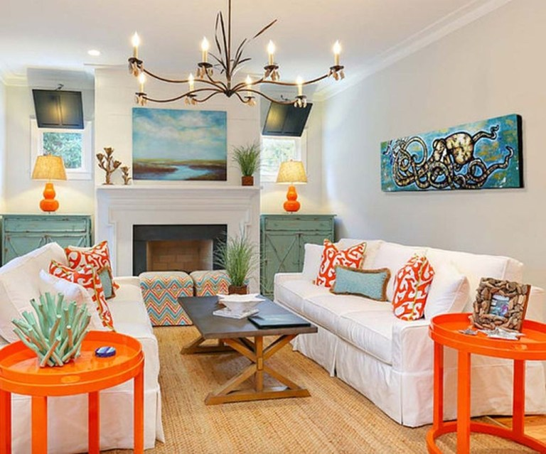 Stylish Colorful Apartment Decor Ideas For Summer 16