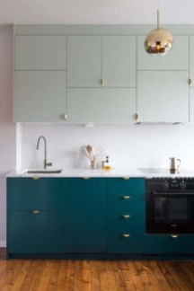 Unique Painted Kitchen Cabinets Design Ideas With Two Tone 12