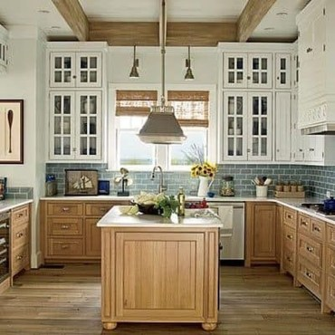 Unique Painted Kitchen Cabinets Design Ideas With Two Tone 20
