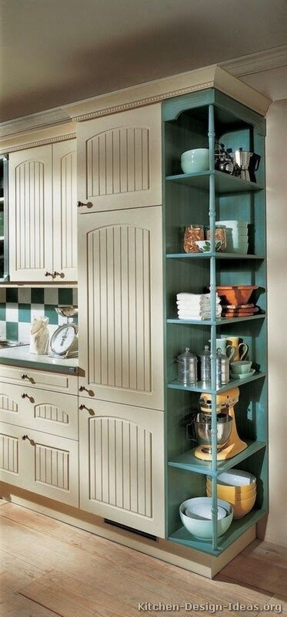Unique Painted Kitchen Cabinets Design Ideas With Two Tone 30