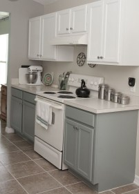 Unique Painted Kitchen Cabinets Design Ideas With Two Tone 40