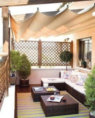 Cool Apartment Balcony Design Ideas For Small Space 53