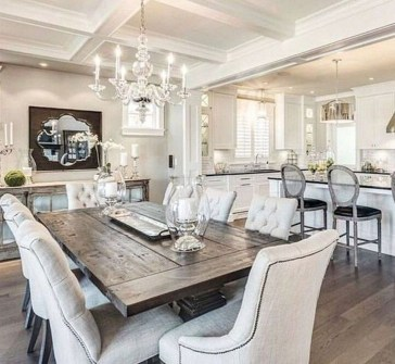 Relaxing Farmhouse Dining Room Design Ideas To Try 35