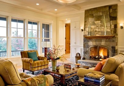 Superb Warm Family Room Design Ideas For This Winter 04