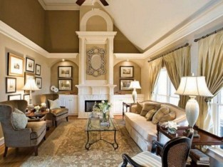 Superb Warm Family Room Design Ideas For This Winter 16