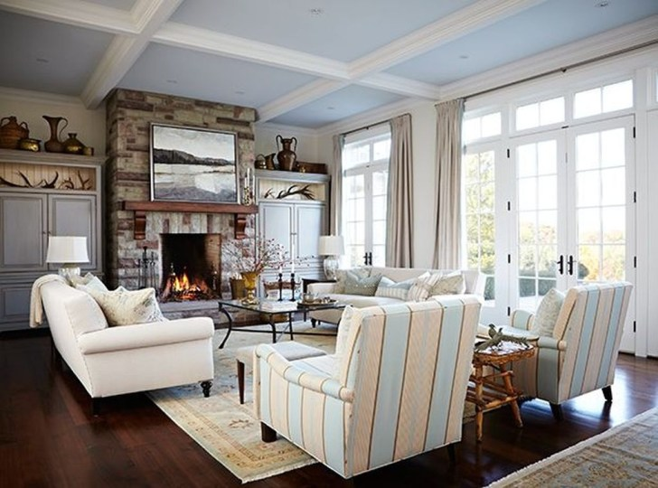 Superb Warm Family Room Design Ideas For This Winter 44
