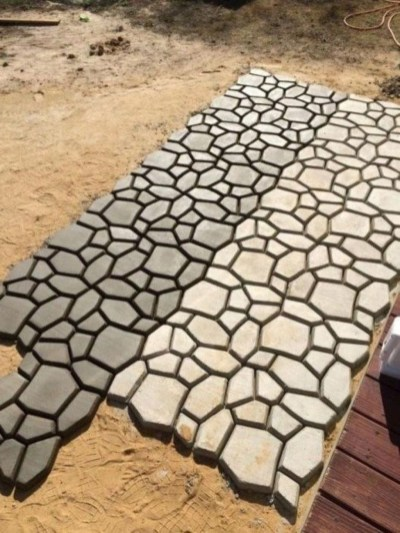 Unordinary Diy Pavement Molds Ideas For Garden Pathway To Try 12