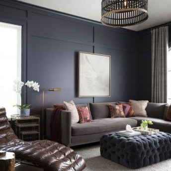 Cozy Masculine Living Room Design Ideas To Try 10
