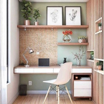Delightful Home Office Design Ideas For Women 07