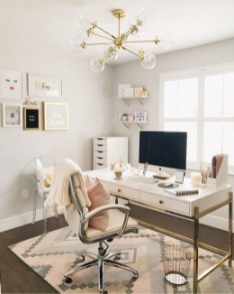 Delightful Home Office Design Ideas For Women 34
