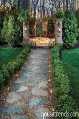 Popular Garden Path And Walkway Ideas To Your Outdoor Space 07