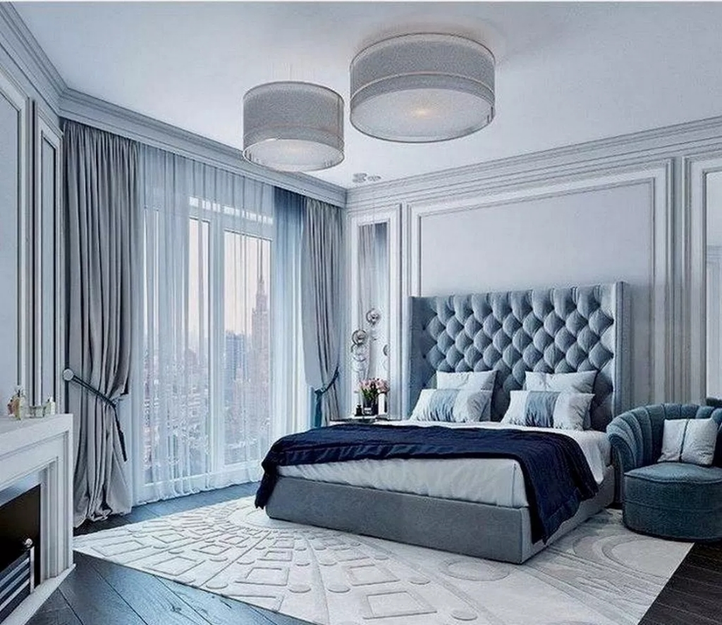 11+ Top Blue Master Bedroom Design Ideas That Looks Great - COODECOR