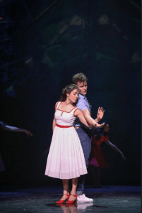 "Giselle O. Alvarez as ""Maria"" and Tyler Hanes as ""Tony"" in the TUTS production of Jerome Robbins' Broadway. Photo Credit: Melissa Taylor."