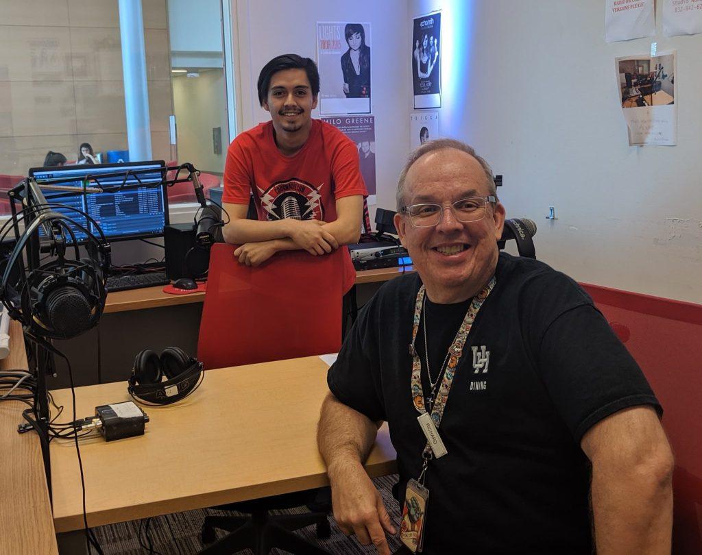 Host Davis Mendoza Darusman (left) and guest Richard Stidham (right)