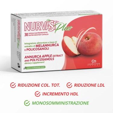 Nurvast Plus - Integratore alimentare a base di estratto di mela Annurca e policosanoli