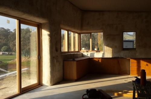 Winter warming sunlight streaming through the front door