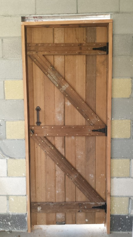 Doors complete with handles and latches