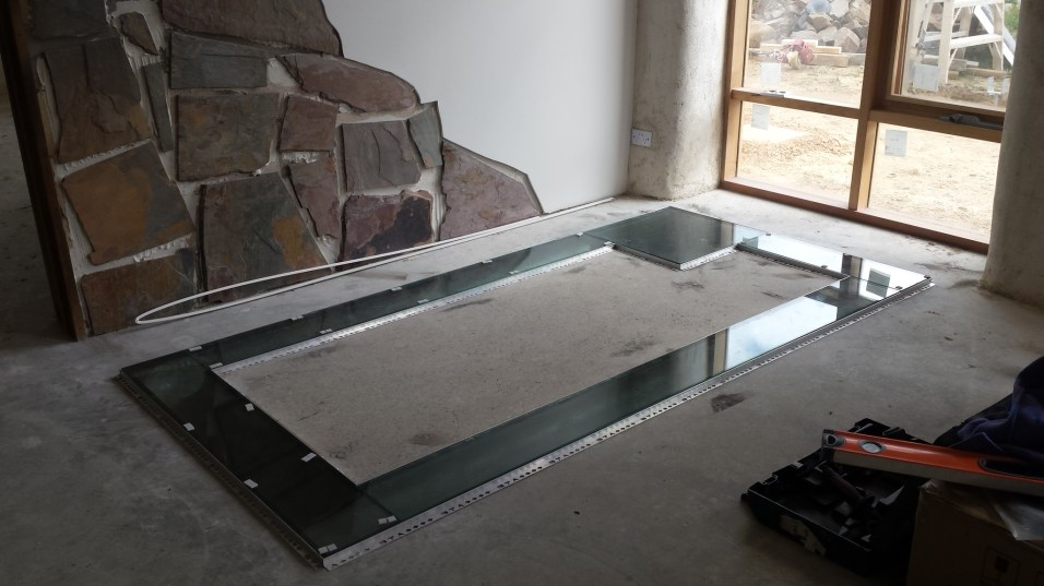 Fish-way channel glassed
