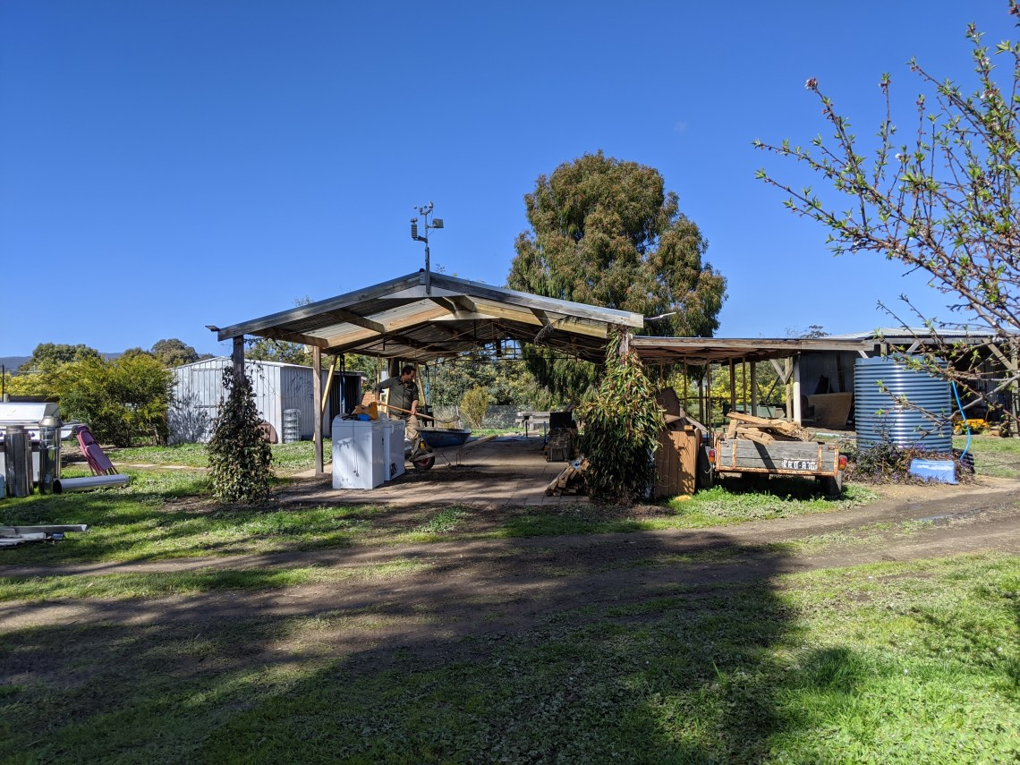 Northern view of the shack, or what's remaining of it