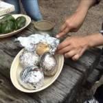野菜丸焼き キャンプ 料理 ゴリラキャンプ部