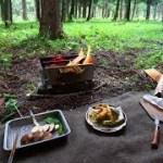 雨のソロキャンプ 前編 新しい焚き火台で天ぷら rain solo camp
