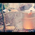 [Bonfires Channel] 雨の一ノ瀬キャンプ場 タープの下 焚き火料理
