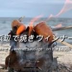 【キャンプ料理】 ミニ焚火台で焼くウィンナー