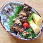 【旦那弁当】牛薄切り肉とシイタケのバター醤油弁当/買って良かった!アイリスオーヤマの新しいフライパン【#73 Japanese bento box】【曲げわっぱ】【料理動画】