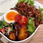【ルーロー飯】お弁当作り|半熟ゆで卵・小松菜カニカマナムル・大学芋