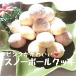 【料理】ラズベリーのピンク色が可愛いスノーボールクッキー#104 Snowballcookies with raspberries