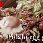 ASMR 一人暮らし料理男子のポテトエッグガレットNo 010 Potato egg glued