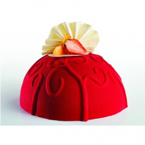moule dome arabesque en silicone pavocake pavoni r