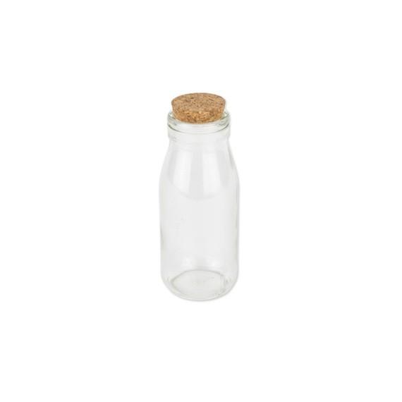 mini bouteilles en verre bouchon liege x5
