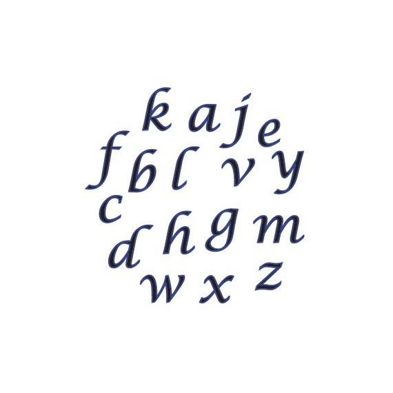 emporte piece alphabet italique