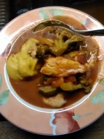 fish stew and fufu