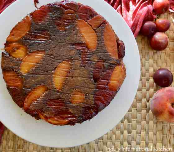 Peach and Plum Upside down AIP cake