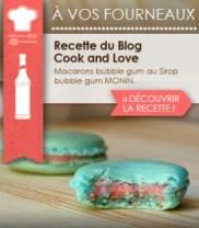 Cook & Love sur Monin Shopping • Macarons Bubble Gum