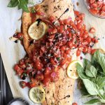 Whole30 Bruschetta Salmon - Finished Dish