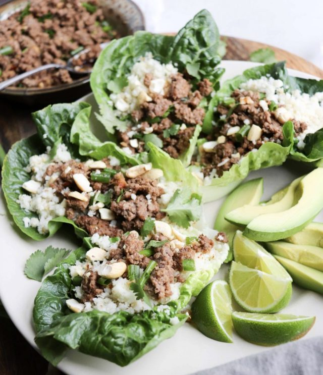 Whole30 Ground Beef Lettuce Wraps