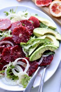 Whole30 Fennel, Blood Orange and Arugula Salad with Citrus Vinaigrette